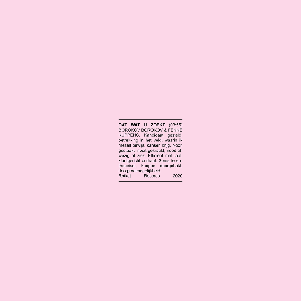 "Nieuwe single Borokov Borokov ft. Fenne Kuppens – ""Dat Wat U Zoekt"""