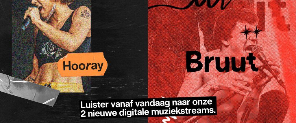 Studio Brussel lanceert twee nieuwe onlinezenders: Bruut & Hooray
