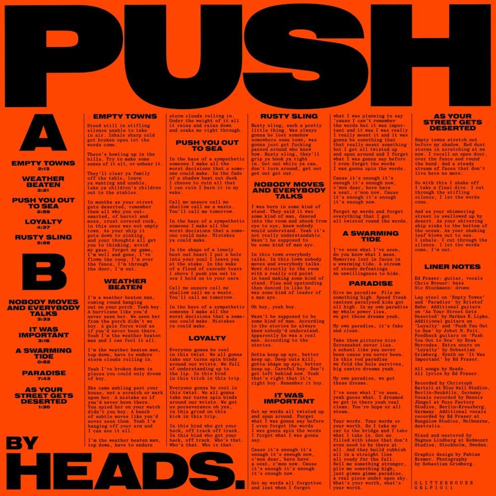 HEADS. – Push (★★★): Met de hete adem van Steve Albini in de nek