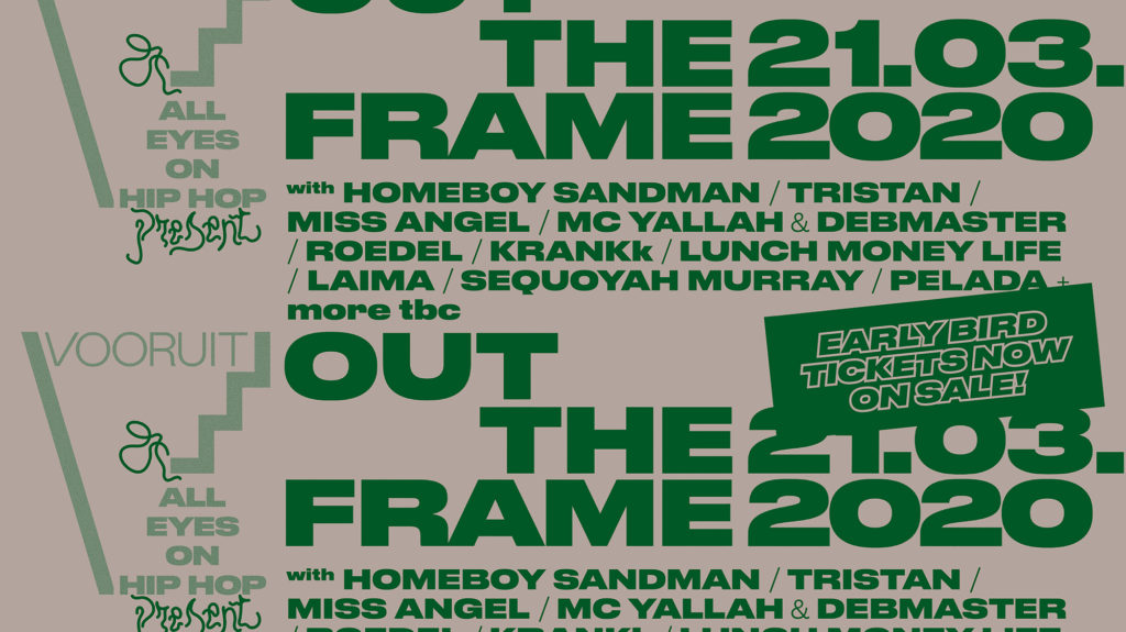 Eerste namen hiphopfestival OUT THE FRAME 2020: Homeboy Sandman / Tristan / Miss Angel & meer
