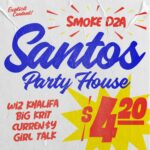 "Nieuwe single Smoke DZA, Wiz Khalifa, Curren$y, Big K.R.I.T. & Girl Talk – ""Santos Party House"""
