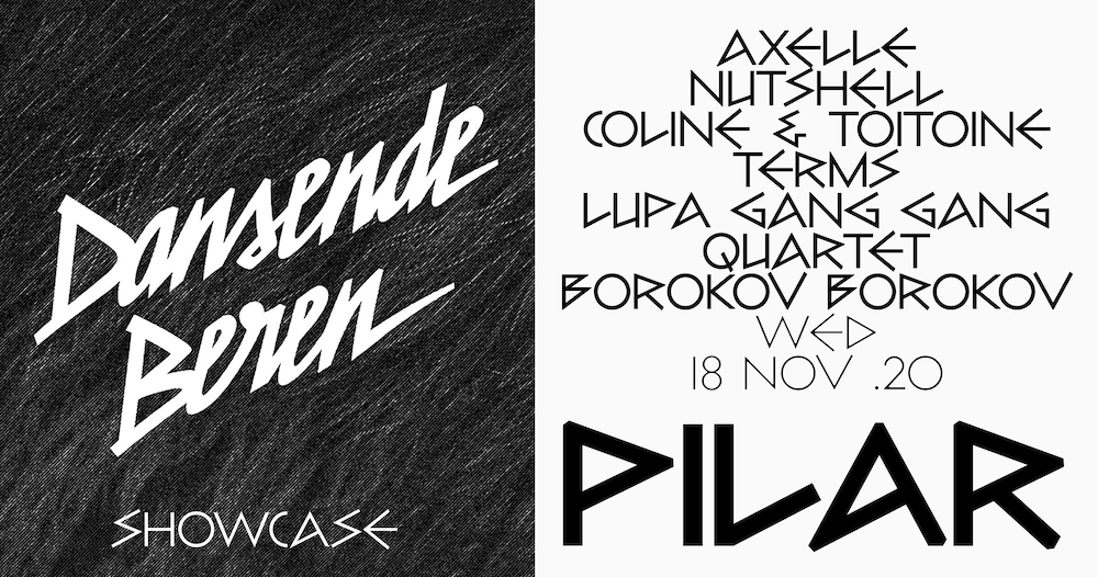 Dansende Beren organiseert nieuwe showcase op 18 november in Pilar Brussel